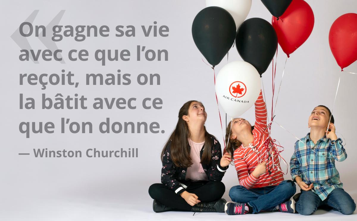 On gagne sa vie avec ce que l'on reçoit, mais on la bâti avec ce que l'on donne. — Winston Churchill